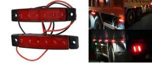 Boční obrysové světlo červené 24V