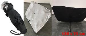 Studiový deštník 130x75 cm stříbrný