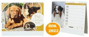 Kalendář 2022 Psi a štěňata 22 x 18 cm