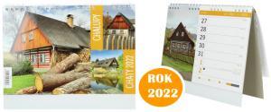 Kalendář 2022 Chaty a chalupy 22 x 18 cm