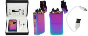 Plazmový zapalovač duhový s USB 818