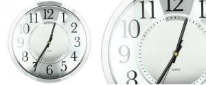 Ručičkové hodiny HT-1652 stříbrné