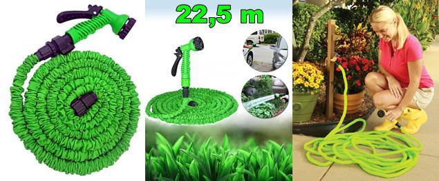 Smršťovací zahradní hadice 22,5 metrů