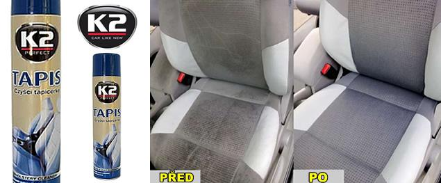 K2 TAPIS 600 ml - pěnový čistič potahů a textilií
