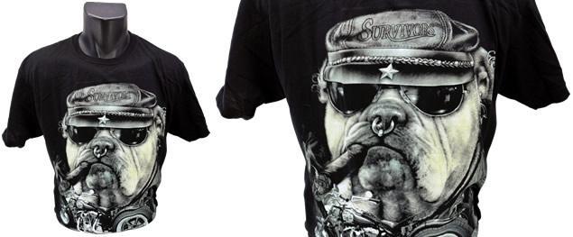 Tričko s motocyklem Buldog