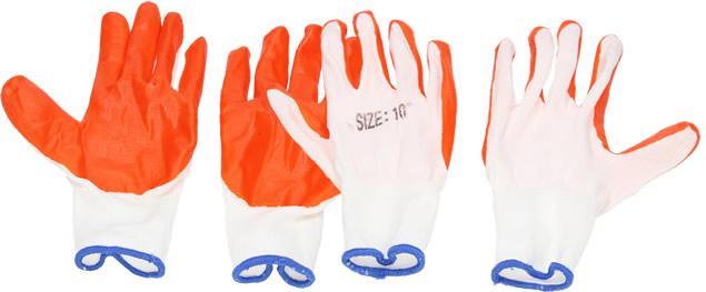 Pogumované rukavice univerzální velikost 10