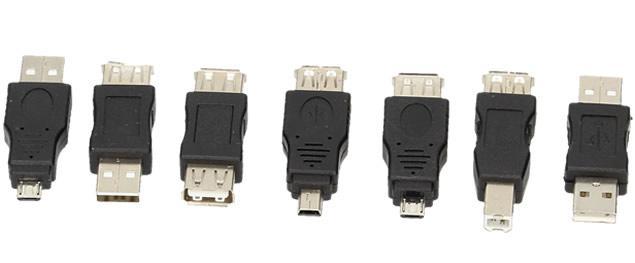 USB redukce sada 7 kusů