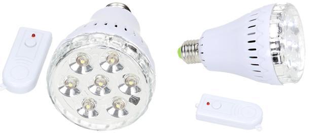 Žárovka na dálkové ovládání 7 LED JL-718-2
