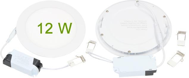 LED stropní panel zápustný 12W kulatý
