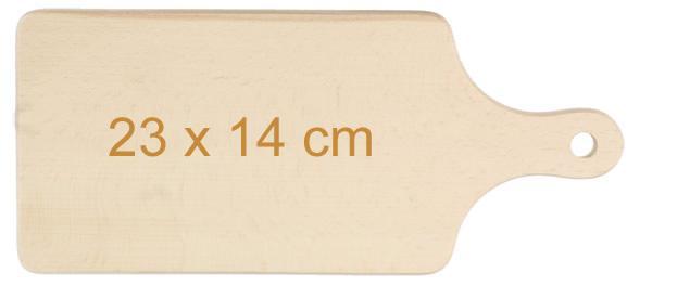 Krájecí prkénko dřevěné 23cm x 14cm s držadlem
