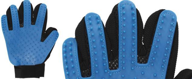 Univerzální rukavice pro vyčesávání srsti 2v1