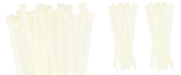 Stahovací pásky bílé 5x250mm