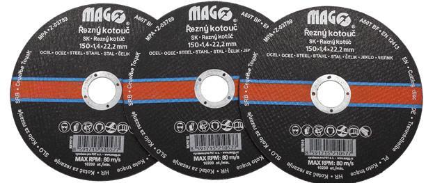 Řezný kotouč Mago 150x1,4x22,2 mm