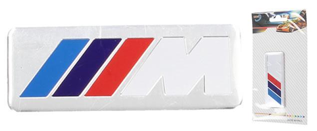 Kovová samolepka M bílé 3 cm x 8 cm