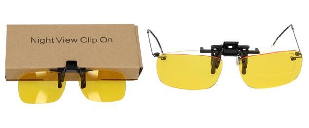 Polarizační klip na brýle žlutý do tmy a mlhy