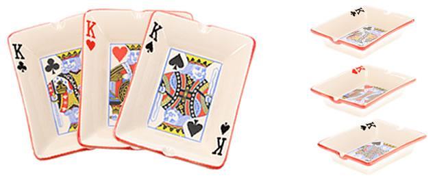 Keramický popelník pro hráče pokru KRÁL