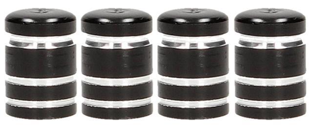 Ozdobné čepičky na ventilky sada 4 ks černé