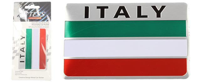 Kovová samolepka Italy 8 cm x 5 cm x 1 mm