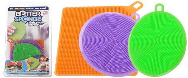 Silikonová houbička Better Sponge sada 3 ks