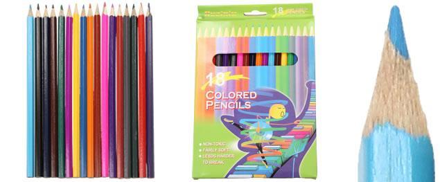 Barervné pastelky pro školáky 18 kusů