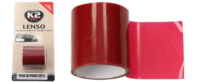 K2 LENSO - červená opravná páska pro opravu světel