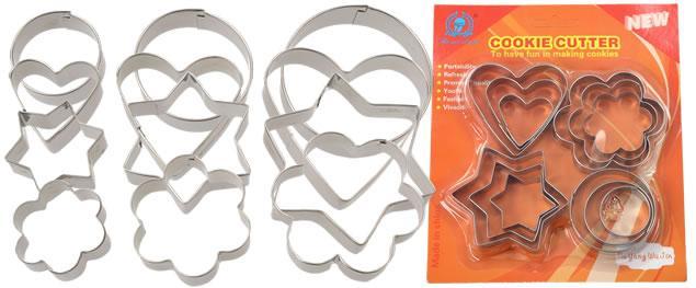 Vykrajovátka kovová sada 4 druhy 12 kusů