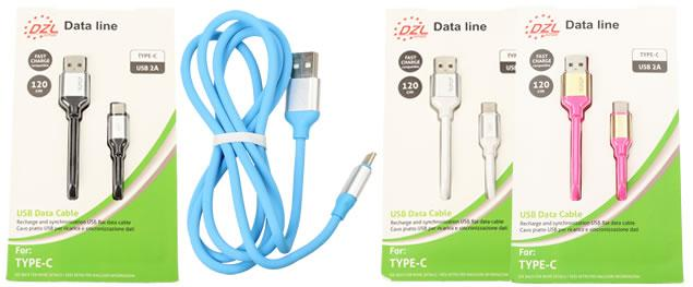 Nabíjecí kabel DZL 2A USB/ USB typ-C 120 cm