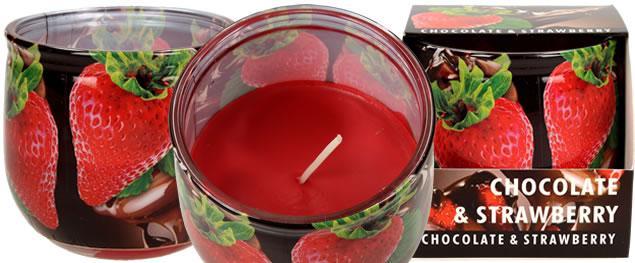 Vonná svíčka čokoláda a jahody