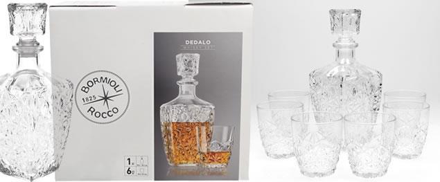 Dedalo skleněná sada na Whisky 7 kusů