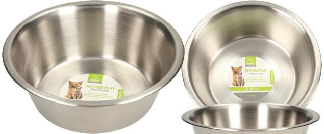 Kulatá nerezová miska pro psy 17,5 x 6 cm
