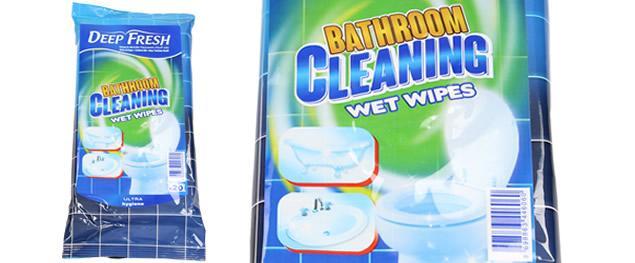 Deep Fresh vlhčené čistící ubrousky do koupelny