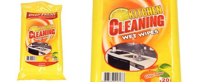 Deep Fresh vlhčené čistící ubrousky do kuchyně