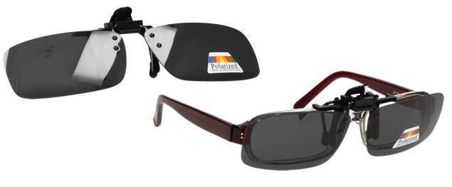 Polarizační sluneční Klip na brýle černý