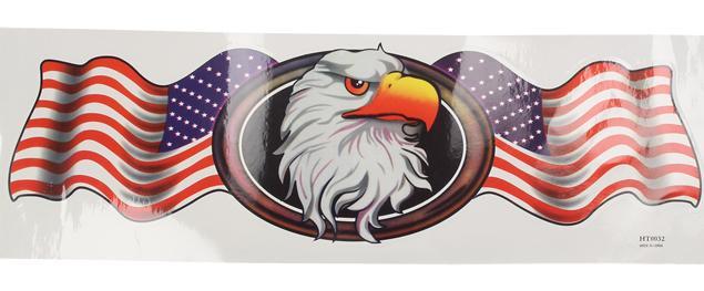 Samolepka USA orlice 44x14cm průhledná