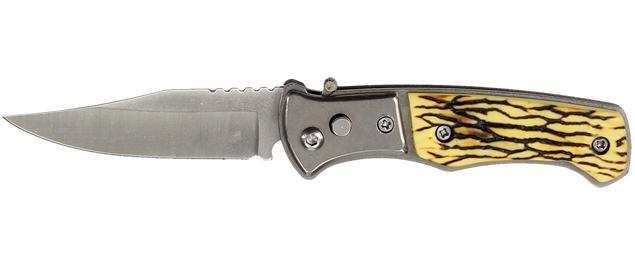 Vystřelovací nůž kapesní se žlutou střenkou 15 cm