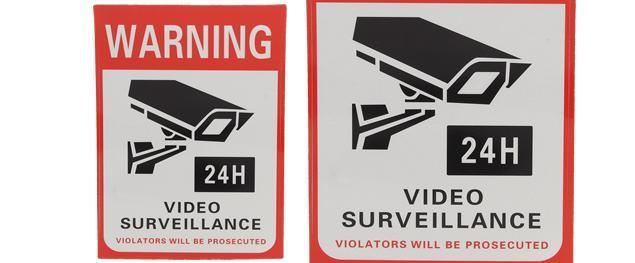 Reflexní samolepka WARNING VIDEO SURVEILLANCE 14 x 10,5 cm
