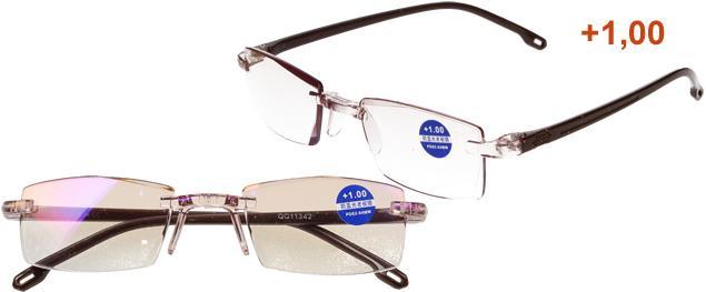 Dioptrické brýle s antireflexní vrstvou hnědé +1,00