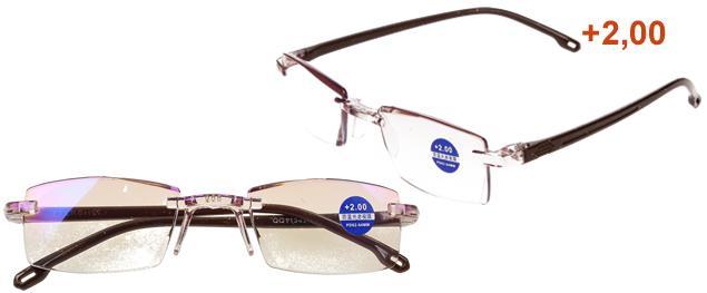 Dioptrické brýle s antireflexní vrstvou hnědé +2,00