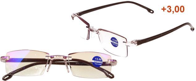 Dioptrické brýle s antireflexní vrstvou hnědé +3,00