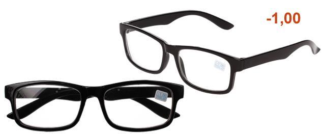 Dioptrické brýle pro krátkozrakost -1,00 černé