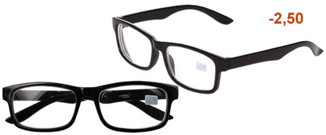 Dioptrické brýle pro krátkozrakost -2,50 černé