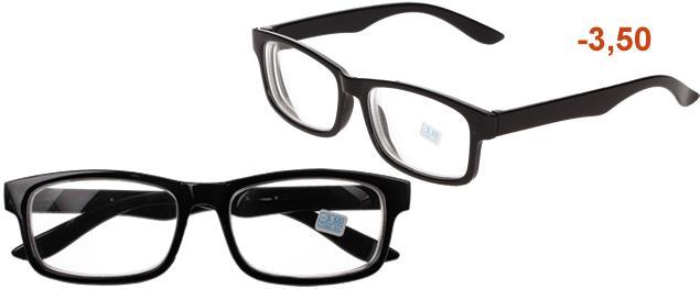 Dioptrické brýle pro krátkozrakost -3,50 černé
