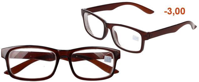 Dioptrické brýle pro krátkozrakost -3,00 hnědé