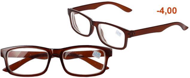 Dioptrické brýle pro krátkozrakost -4,00 hnědé