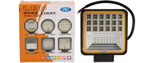LED pracovní světlo 24W double colour hranaté