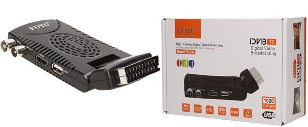 FULL HD digitální setobox DVB-T/T2 FO-333