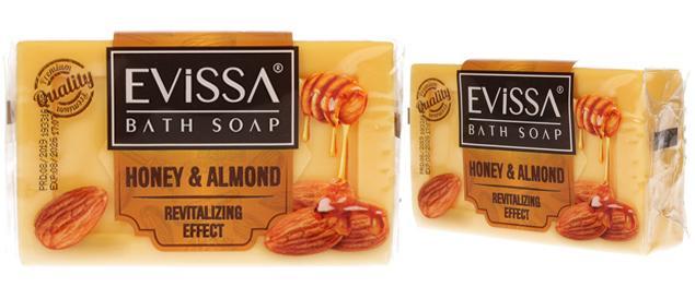 Evissa mýdlo na obličej i tělo honey & almond 150g