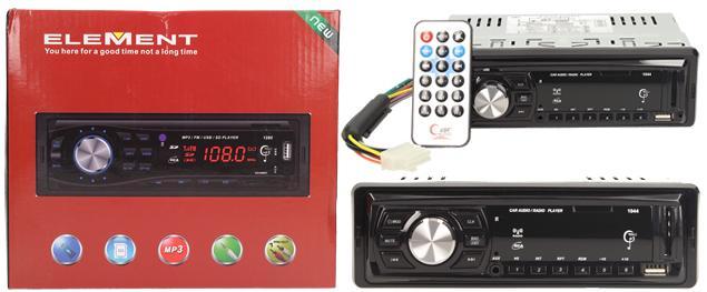 Autorádio ELEMENT s Bluetooth a MP3 přehrávačem