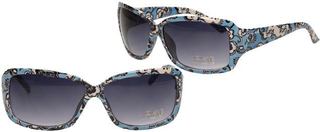 Sluneční brýle kytkované modro-bílé 9330