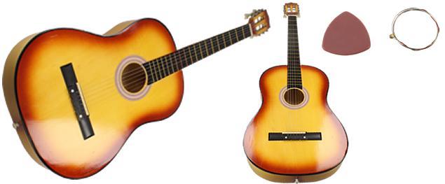 Kytara dřevěná, lakovaná 98 cm